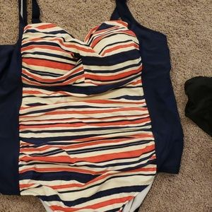 Swimsuit one piece with soft bra cups